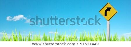 estrada · sinaleiro · transformar · azul · céu · assinar - foto stock © moses