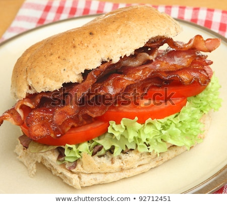 Tocino lechuga tomate rodar sándwich blt Foto stock © bendicks