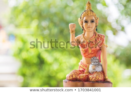 Stock photo: Sitting Woman Statue