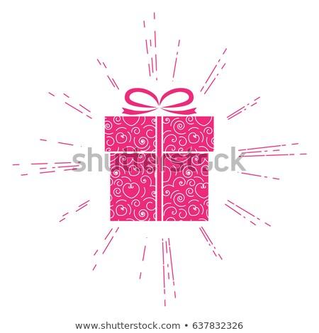 mutlu · sevgililer · günü · kart · eğim · kâğıt - stok fotoğraf © adamson