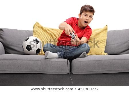 Jongeren spelen video games computer vrouw meisje Stockfoto © photography33