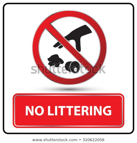 No Litter Sign in Park Stock photo © pinkblue