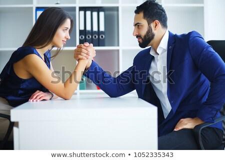 Paar arm worstelen man achtergrond zakenman Stockfoto © photography33
