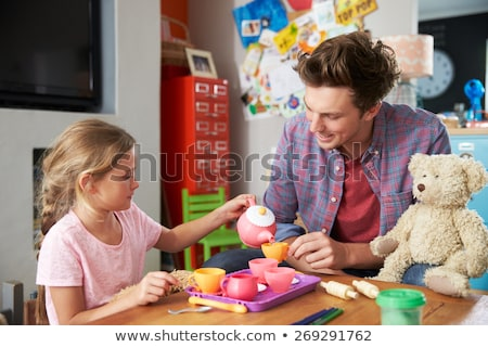 two children playing at tea parties Stock photo © photography33