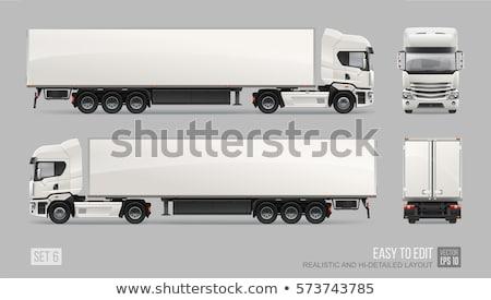 トラック · 孤立した · 白 · ベクトル · トラフィック · グラフィック - ストックフォト © leonido