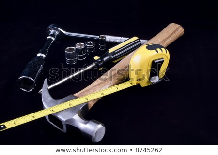Mallet and retractable measure Stock photo © photography33