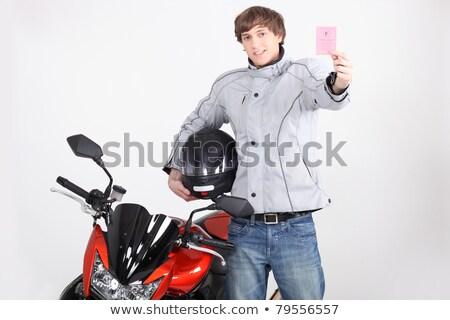 paar · liefde · man · fiets · portret - stockfoto © photography33