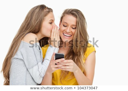 amigos · irmã · meninas · segredo · ouvido - foto stock © rob_stark