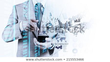 男 · 携帯電話 · 画面 · フォーカス · 携帯電話 - ストックフォト © pzaxe