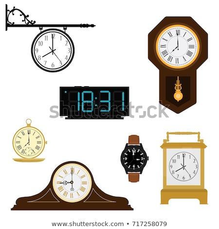 銀 · メタリック · 目覚まし時計 · 実例 · クロック · 広場 - ストックフォト © witthaya