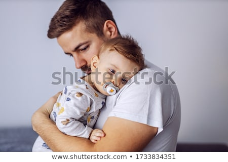 Godny podziwu mały dziecko pacyfikator portret Zdjęcia stock © feedough