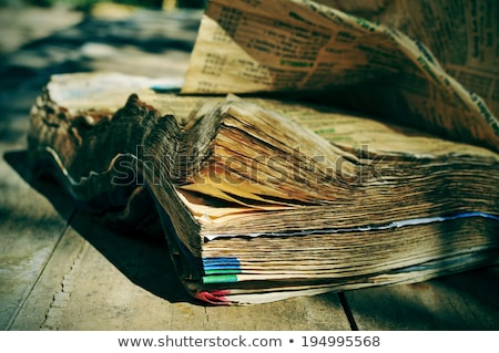 Stock photo: Phone book closeup