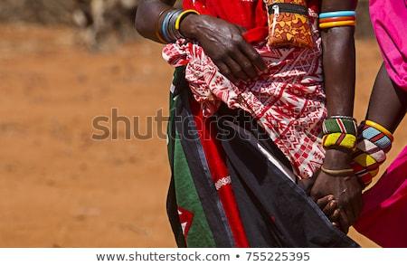 色 ケニア コート 腕 地図 フラグ ストックフォト © perysty
