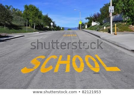 Placa de rua agosto verde seta indicação direito Foto stock © stevanovicigor