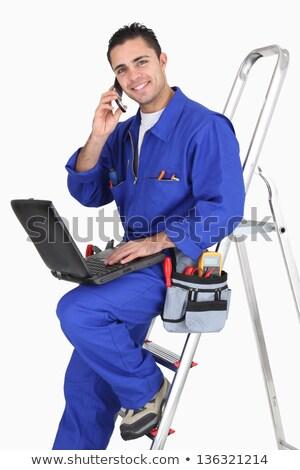 электрик клиентов телефон здании портрет Сток-фото © photography33