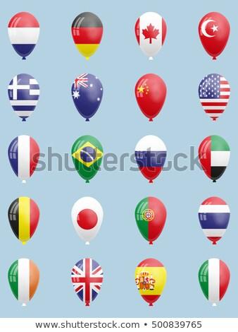 balão · bandeira · Espanha · crianças · vermelho · cor - foto stock © experimental
