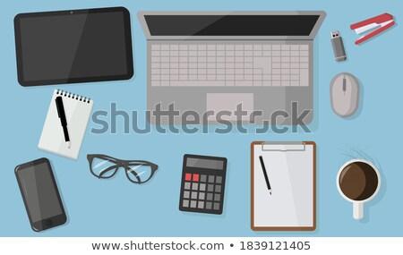 rosa · ratón · de · la · computadora · aislado · blanco · negocios · oficina - foto stock © bellastera