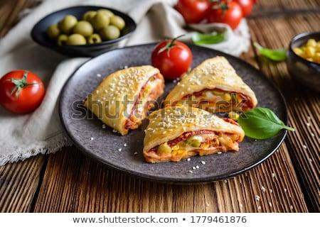 koken · frans · croissant · voedsel · ei · achtergrond - stockfoto © antonio-s