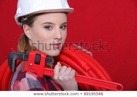 moersleutel · jonge · permanente · hand - stockfoto © photography33