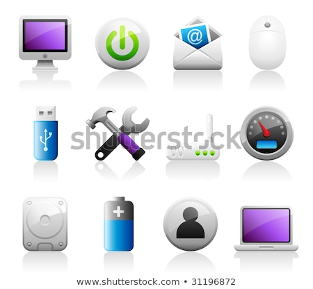 Titaniun computer icons Stock photo © mikemcd