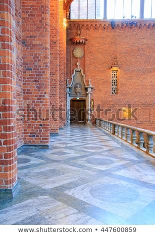 Sztokholm miasta sali sala balowa architektury wnętrza Zdjęcia stock © vichie81