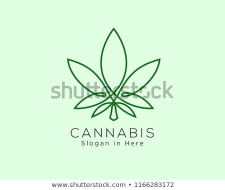 cannabis stamp Stock photo © robertosch