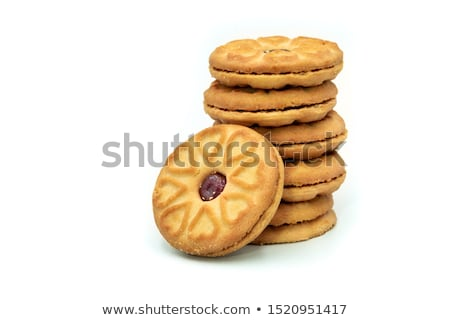 Stock photo: pile of butter cookies