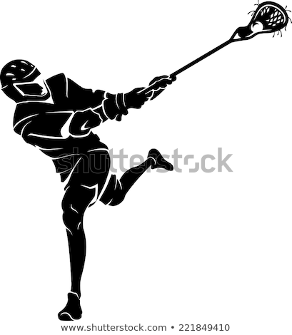 Vector Illustration of a Lacrosse Player Stock photo © chromaco