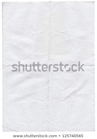 изолированный старые белый сложенный рваной бумаги бумаги Сток-фото © latent
