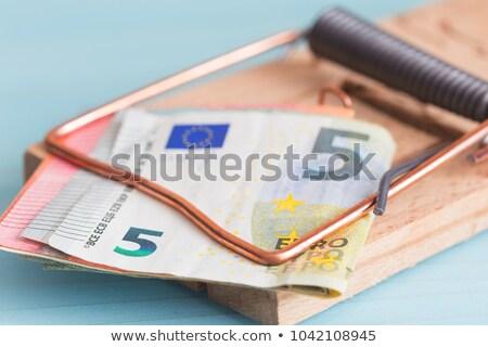 europeu · banco · nota · mouse · armadilha · negócio - foto stock © pterwort