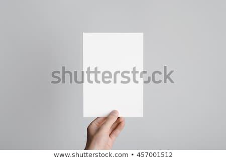 blank white flyer  Stock photo © mtkang
