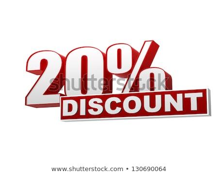 satış · fiyat · azalma · 20 · alışveriş · kırmızı - stok fotoğraf © marinini