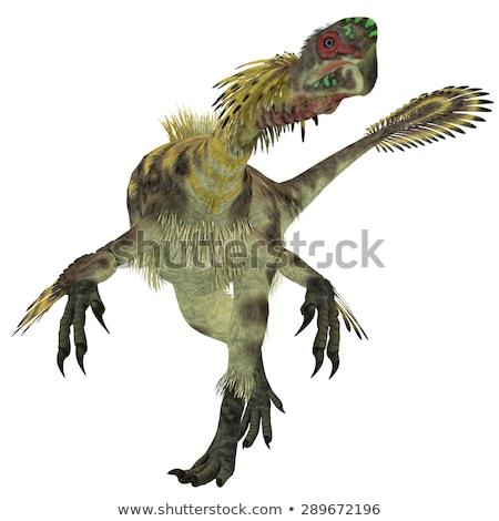 鳥 恐竜 遅い 3dのレンダリング デジタル 絵画 ストックフォト © AlienCat