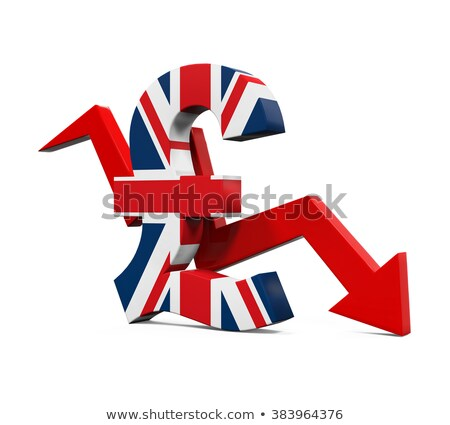 3D Pound Sterling currency sign isolated on white stock photo © make