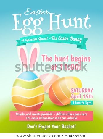 Easter egg hunt imzalamak pastel renkler Stok fotoğraf © obscura99