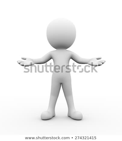 3d osób biały streszczenie projektu tle Zdjęcia stock © Quka