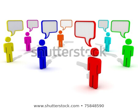 3D People with text bubble blank Stock photo © Quka