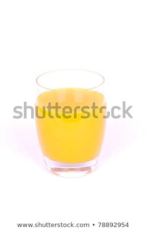 glas · vol · sinaasappelsap · witte · achtergrond · oranje - stockfoto © wavebreak_media
