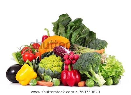 свежие · овощи · белый · продовольствие · древесины · лист · фон - Сток-фото © ozaiachin