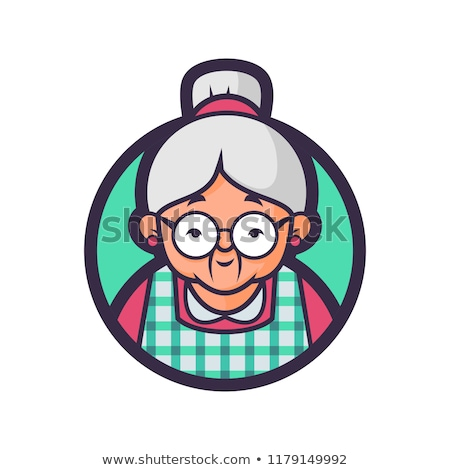 Kitchen Granny - Cartoon Character - Vector Illustration Stock photo © indiwarm