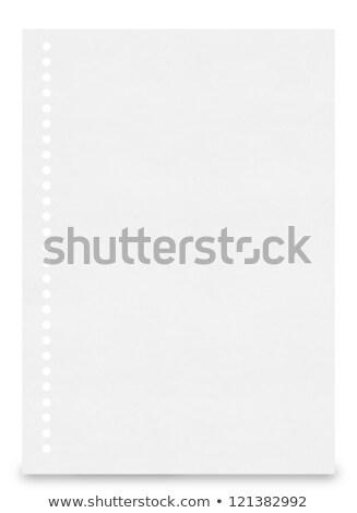 fehér · papír · tép · el · izolált · üzlet - stock fotó © oly5