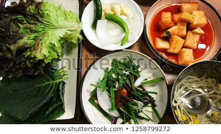 korean pickled onion in seoul restaurant Stock photo © travelphotography