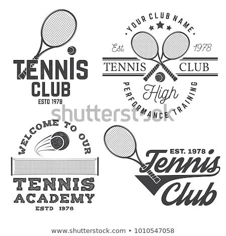 ヴィンテージ テニス スポーツ スタンプ スタイル ストックフォト © squarelogo