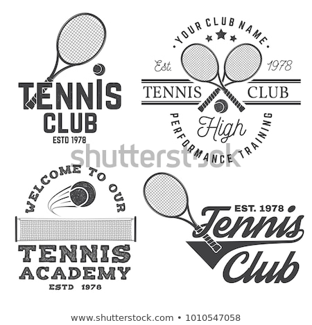 Klasszikus tenisz sport bélyeg stílus Stock fotó © squarelogo