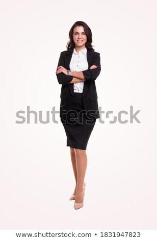 conteúdo · mulher · branco · feliz · feminino - foto stock © wavebreak_media