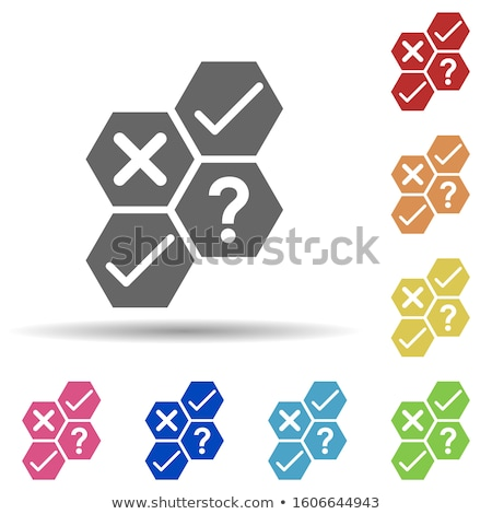 combined multi color puzzle   idea concept stock photo © make