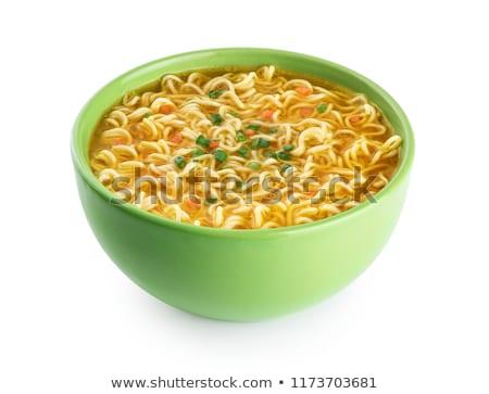 スープ 麺 アジア料理 食品 オレンジ 黒 ストックフォト © lokes
