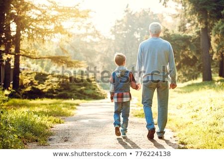 grand-père · marche · fils · petit-fils · bois · famille - photo stock © paha_l