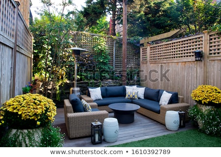 wooden furniture on an outdoor deck stock photo © jrstock