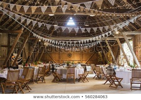 Bruiloft banket bloemen partij ontwerp restaurant Stockfoto © luckyraccoon